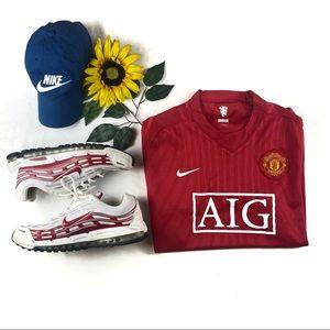 VNTG Nike Manchester United Soccer Jersey AIG
